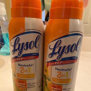 -Two New Lysol spray 10oz each